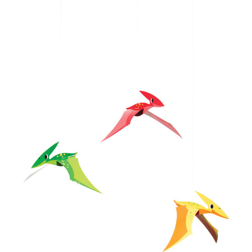 """Club Pack of 36 Red and Green Boy Dino Hanging Tissue Paper Fan Party Decorations 32"""" - IMAGE 1"""
