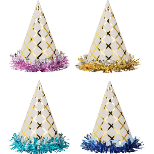 """Club Pack of 48 Blue and Pink Ice Cream Child Party Hats 6.25"""" - IMAGE 1"""