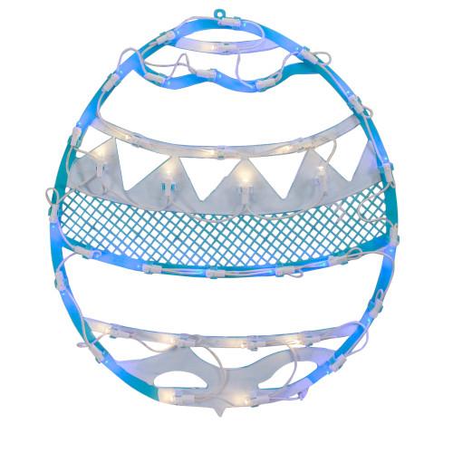 "17"" LED Lighted Blue Easter Egg Spring Window Silhouette Decoration - IMAGE 1"