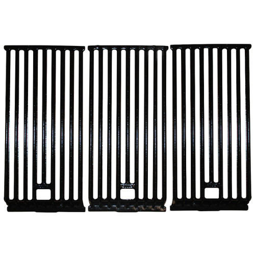 """3pc Gloss Cast Iron Cooking Grid for Broilmaster Gas Grills 21.75"""" - IMAGE 1"""