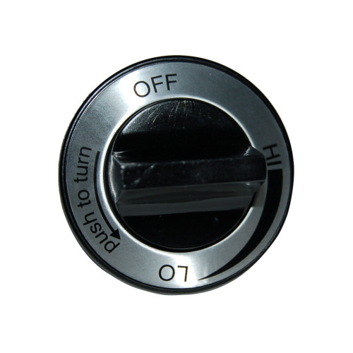 """2.25"""" Black and Silver Plastic Control Knob for Charmglow Brand Gas Grills - IMAGE 1"""
