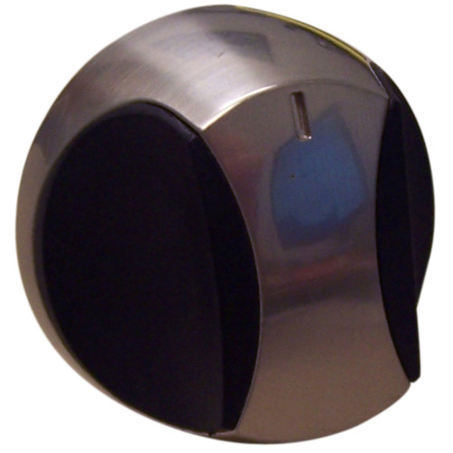 """2.25"""" Black and Silver Plastic Control Knob for Charmglow and Kenmore - IMAGE 1"""