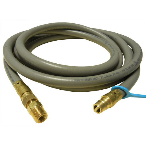 10' Black Natural Gas Grill Hose with Quick Connect Coupling - IMAGE 1