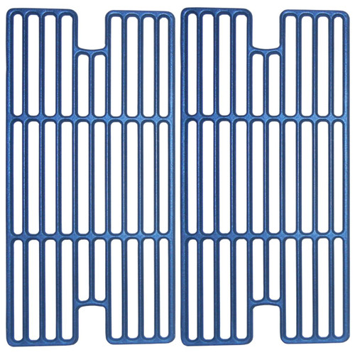 """2pc Matte Cast Iron Cooking Grid for Backyard Gas Grills 17"""" - IMAGE 1"""