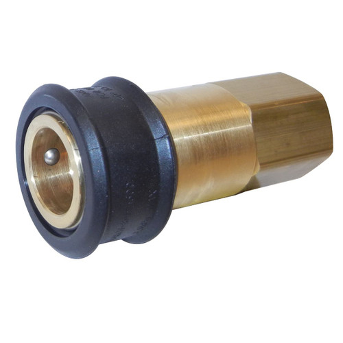 """4"""" Gold and Black Natural Gas Quick Connect Coupling - IMAGE 1"""