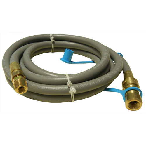 10' Black Natural Gas Hose with Quick Connect Coupling - IMAGE 1