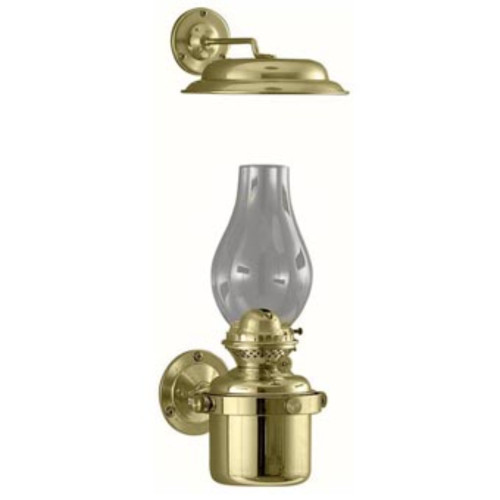 """10"""" Gold and Clear Traditional Gimbal Lamp with Smoke Bell - IMAGE 1"""