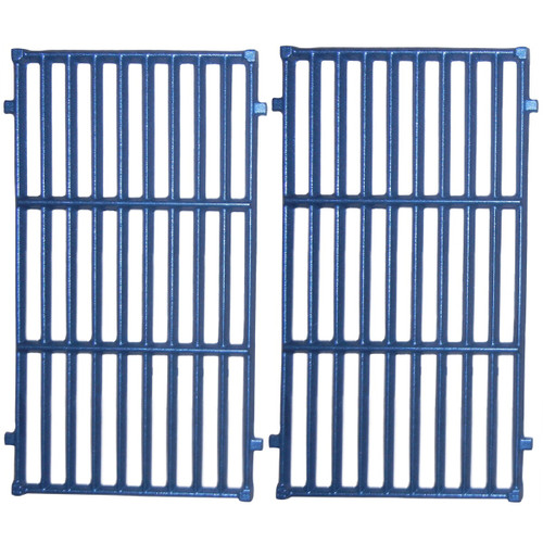 """2pc Matte Cast Iron Cooking Grid for Weber Gas Grills 20.5"""" - IMAGE 1"""