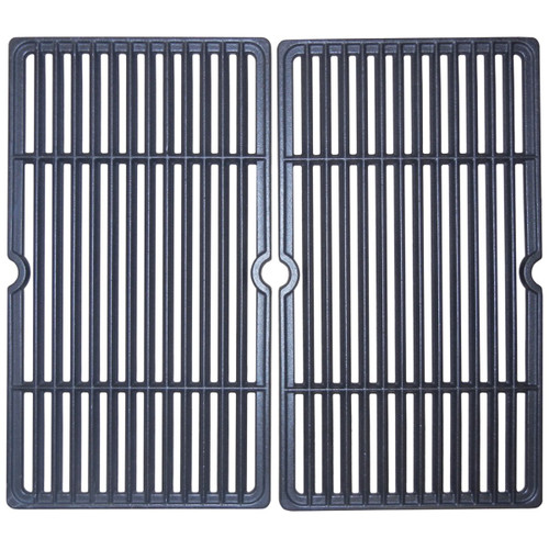 """2pc Matte Cast Iron Cooking Grid for Gourmet Gas Grills 20"""" - IMAGE 1"""