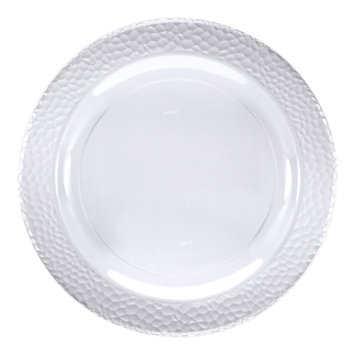 """Club Pack of 120 Clear Pebble Plastic Disposable Plates 10"""" - IMAGE 1"""