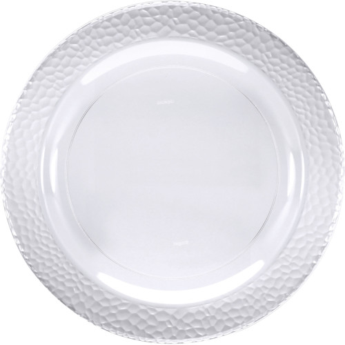 """Club Pack of 120 Clear Pebble Plastic Disposable Plates 9"""" - IMAGE 1"""