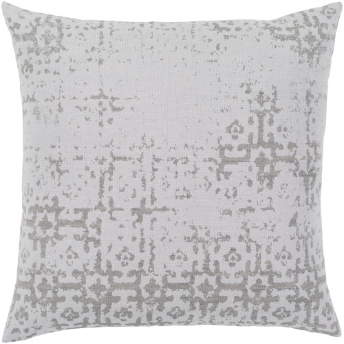 """20"""" Light Gray and Brown Earth Patterned Woven Square Throw Pillow Cover - IMAGE 1"""