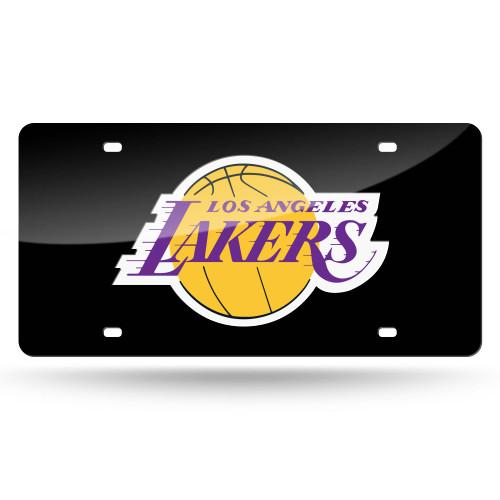 "6"" x 12"" Black and Yellow NBA Los Angeles Lakers Tag - IMAGE 1"