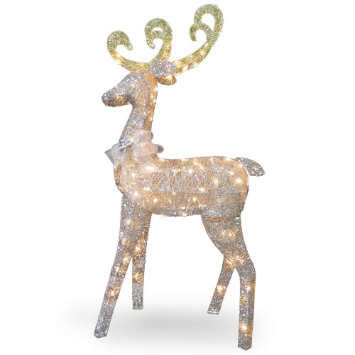 "60"" Pre-Lit Standing Reindeer Christmas Decoration - Clear Lights - IMAGE 1"