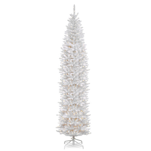 12' Pre-Lit Kingswood White Fir Pencil Artificial Christmas Tree - Clear Lights - IMAGE 1