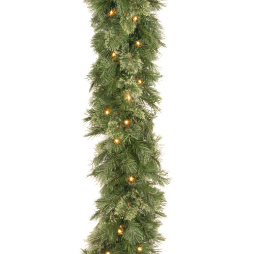 """9' x 10"""" Pre-Lit Wispy Willow Artificial Christmas Garland - Clear Lights - IMAGE 1"""