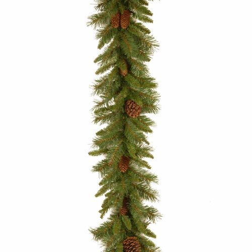 "9' x 10"" Pine Cone Artificial Christmas Garland - Unlit - IMAGE 1"