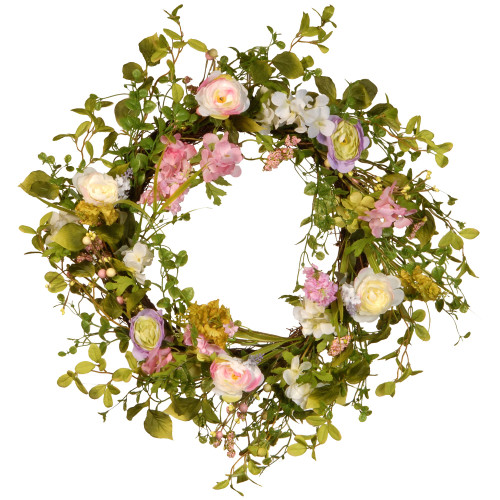 Spring Artificial Christmas Wreath - 24-Inch, Unlit - IMAGE 1