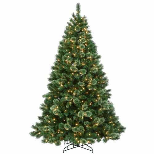 7.5' Pre-Lit Hamburg Pine Artificial Christmas Tree - Clear Lights - IMAGE 1