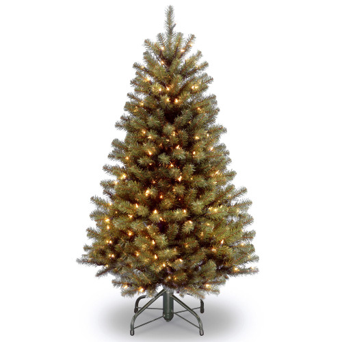 5' Pre-Lit Medium North Valley Spruce Artificial Christmas Tree - Clear Lights - IMAGE 1