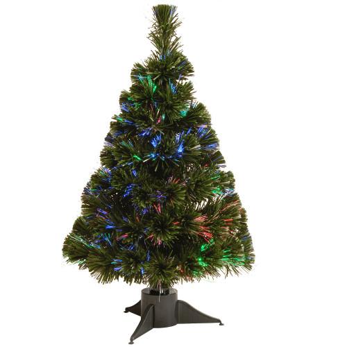 "24"" Pre-Lit Ice Artificial Fiber Optic Christmas Tree – Multicolor LED Lights - IMAGE 1"