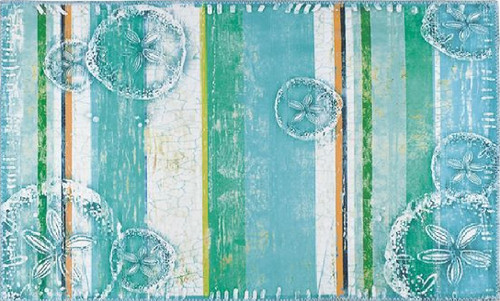 """22"""" x 34"""" Blue and Green Ocean Floor Inspired Area Rug - IMAGE 1"""
