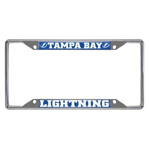 NHL Tampa Bay Lightning Rectangular License Plate Frame - IMAGE 1