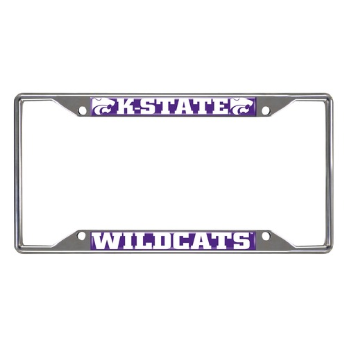 NCAA Kansas State Wildcats Chrome Rectangular License Plate Frame - IMAGE 1