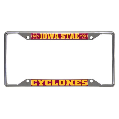 NCAA Iowa State Cyclones Chrome Rectangular License Plate Frame - IMAGE 1