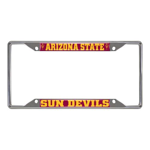 NCAA Arizona State University Sun Devils Chrome License Plate Frame - IMAGE 1