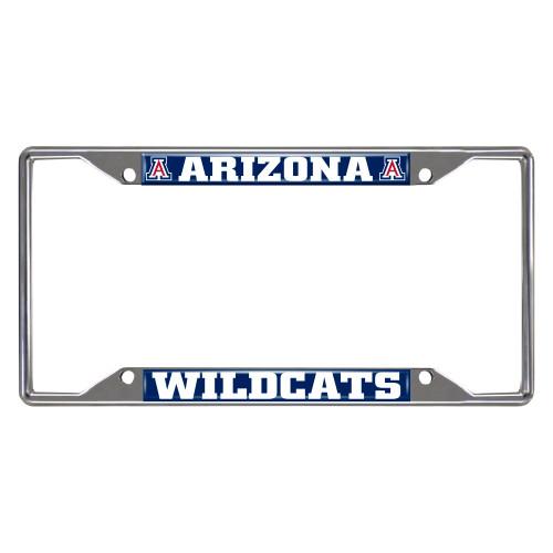 NCAA Arizona Wildcats Chrome Rectangular License Plate Frame - IMAGE 1