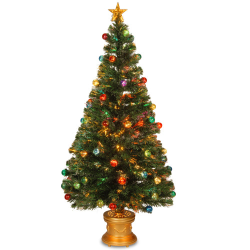 "60"" Pre-Lit Medium Fiber-Optic Artificial Ornamented Christmas Fireworks Tree - LED Lights - IMAGE 1"