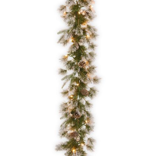 "9' x 10"" Pre-Lit Liberty Pine Artificial Christmas Garland - Clear Lights - IMAGE 1"