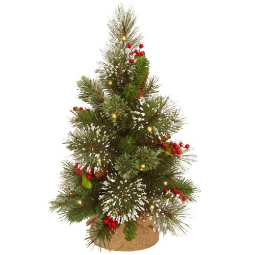 "18"" Pre-Lit Medium Wintry Pine Artificial Christmas Tree - Warm White Lights - IMAGE 1"
