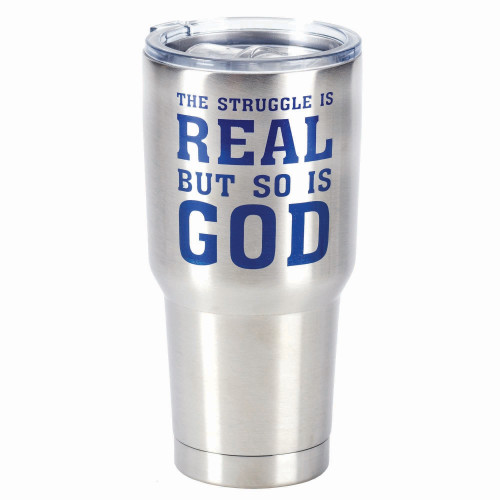 """30oz Stainless Steel """"The Struggle is Real"""" Travel Tumbler - IMAGE 1"""