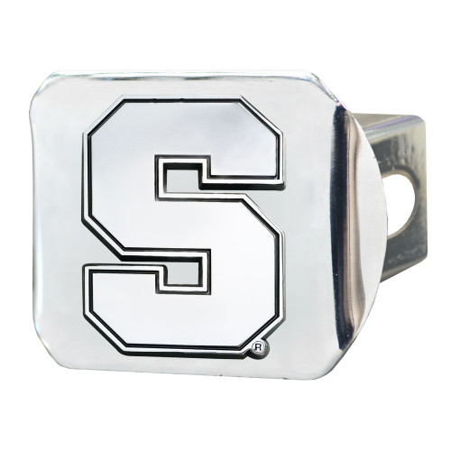 """4"""" Stainless Steel and Black NCAA Syracuse Orange Hitch Cover - IMAGE 1"""