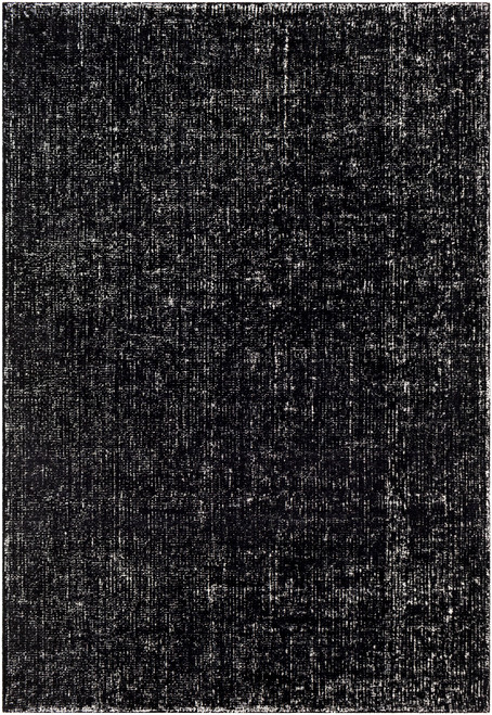 2' x 3' Black and White Texture Patterned Rectangular Area Throw Rug - IMAGE 1