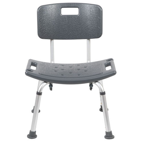 """33.25"""" Gray Classic Textured Seat Medical Grade Shower Chair - IMAGE 1"""