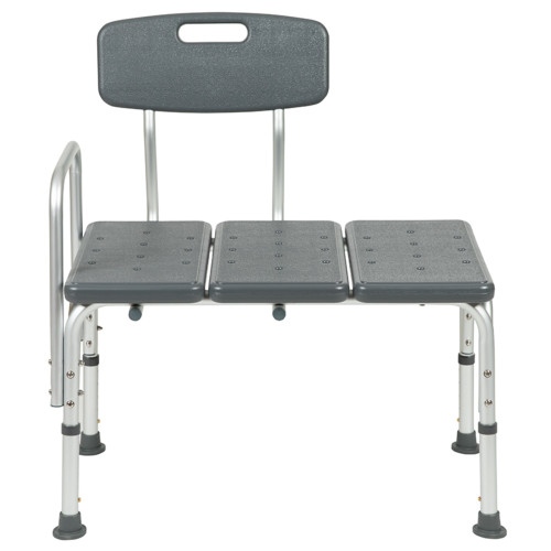 """35.5"""" Gray Hercules Series Adjustable Bath and Shower Transfer Bench - IMAGE 1"""