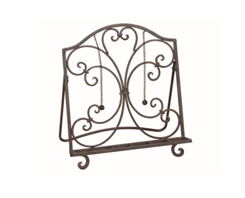 """14"""" Brown Cookbook Stand with Weighted Page Holder Chains - IMAGE 1"""