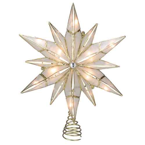 """10.25"""" Lighted Star Christmas Tree Topper - Clear Lights - IMAGE 1"""