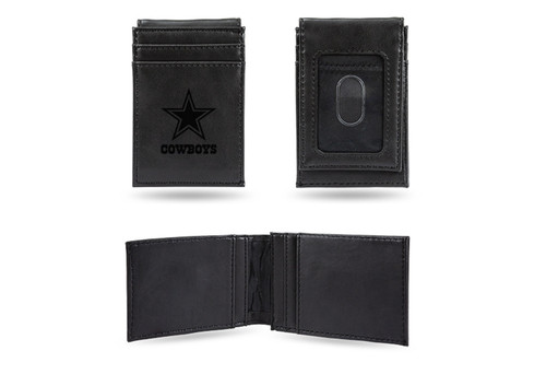 "4"" Black NFL Dallas Cowboys Front Pocket Wallet - IMAGE 1"