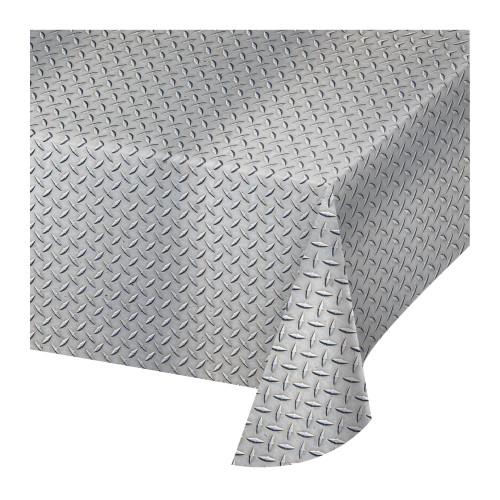 "Set of 6 Gray Diamond Plated Design Tablecloth 108"" - IMAGE 1"