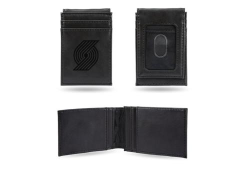 "4"" Black NBA Portland Trail Blazers Front Pocket Wallet - IMAGE 1"