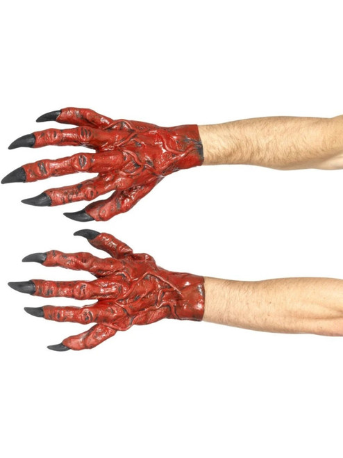 """38"""" Red and Black Devil Men Adult Halloween Hands Costume Accessory - One Size - IMAGE 1"""