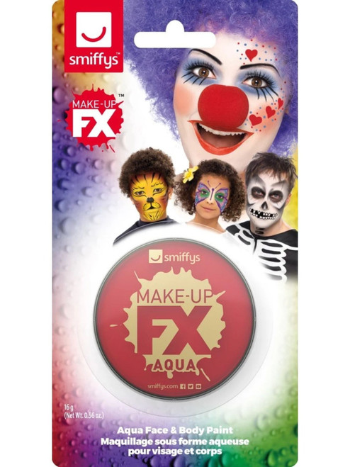 "19"" Red Face and Body Unisex Adult Halloween Make-Up FX Kit Costume Accessory - IMAGE 1"
