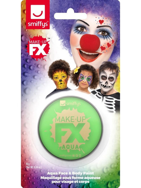"""19"""" Lime Green Face and Body Unisex Adult Halloween Make-Up FX Kit Costume Accessory - IMAGE 1"""