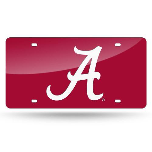 "12"" Red and White College Alabama Crimson Tide Cut Tag - IMAGE 1"