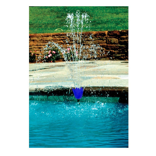 "23"" Blue Adjustable Wall Flower Water Fountain for Swimming Pools - IMAGE 1"