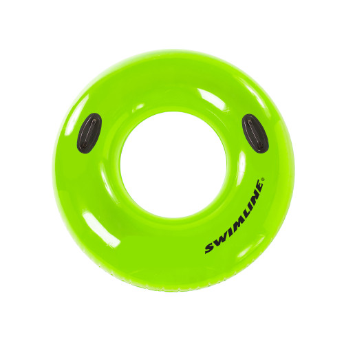 36-Inch Inflatable Lime Green Swimming Pool Inner Tube Ring Float - IMAGE 1